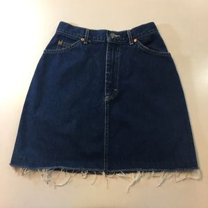 Vintage Lee High Waisted Denim Blue Jean Skirt